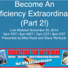 Become An Efficiency Extraordinaire Part 2 – 14.11.20